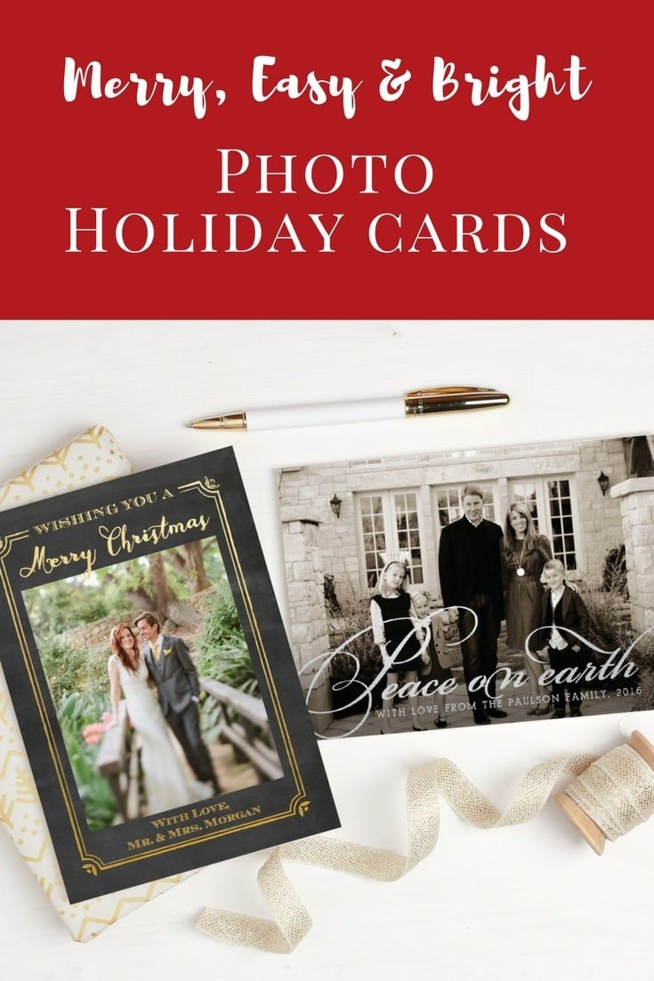 Merry, Easy & Bright Photo Holiday Cards