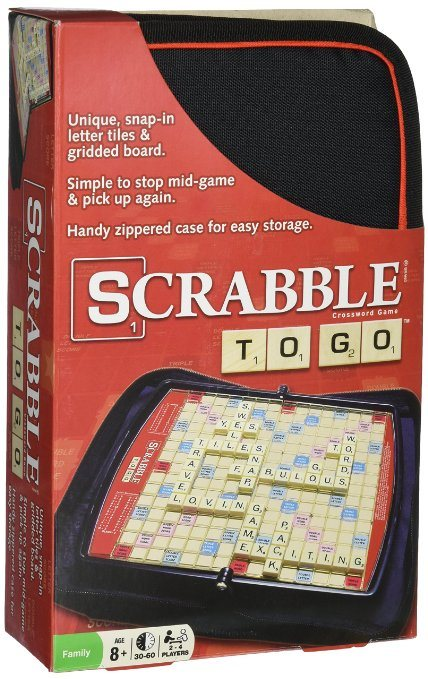 Holiday Gift Guide - Toys that Travel. Scrabble To Go is a great gift for traveling families. (Photo from Amazon.com)
