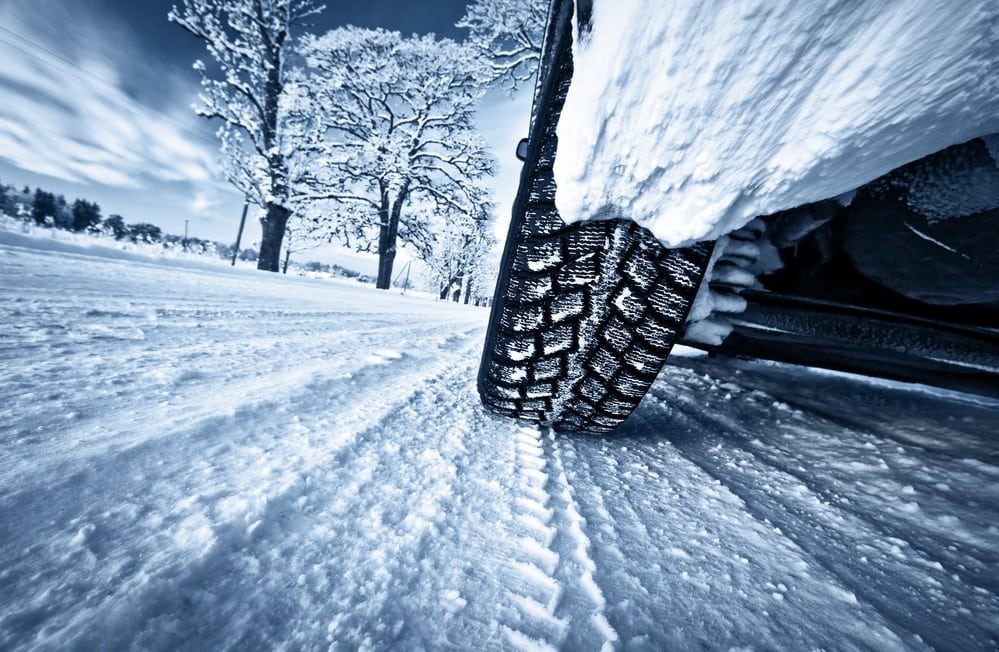 Check tire pressure to help ensure a safe journey on your winter road trip
