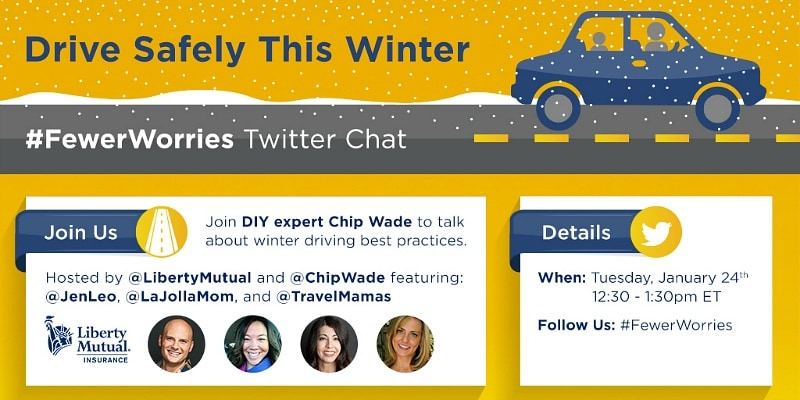Winter Driving Twitter Party with Liberty Mutual, Chip Wade & #KidsNTrips