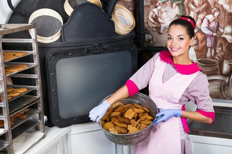 Woman entrepreneur baker