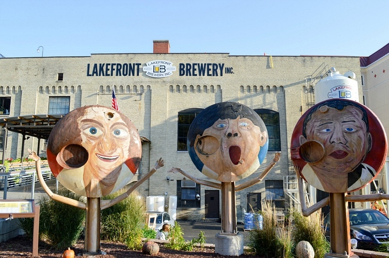 Enjoy a brewery tour at Lakefront Brewery during your Milwaukee guys weekend