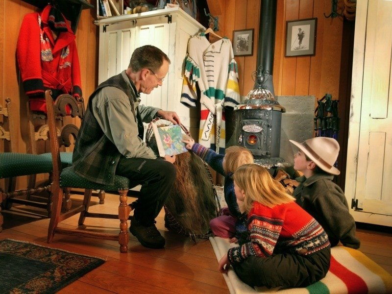 Mountain Heritage Guides at Fairmont Chateau Lake Louise with kids