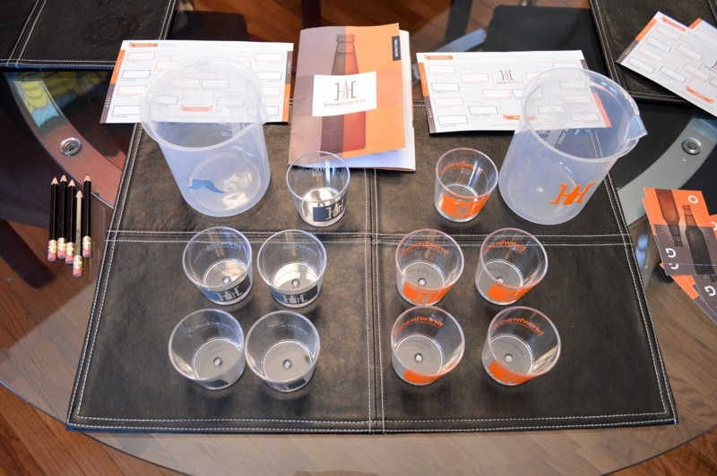Buy a pre-made March Madness beer tasting tournament kit from Brew Bracket