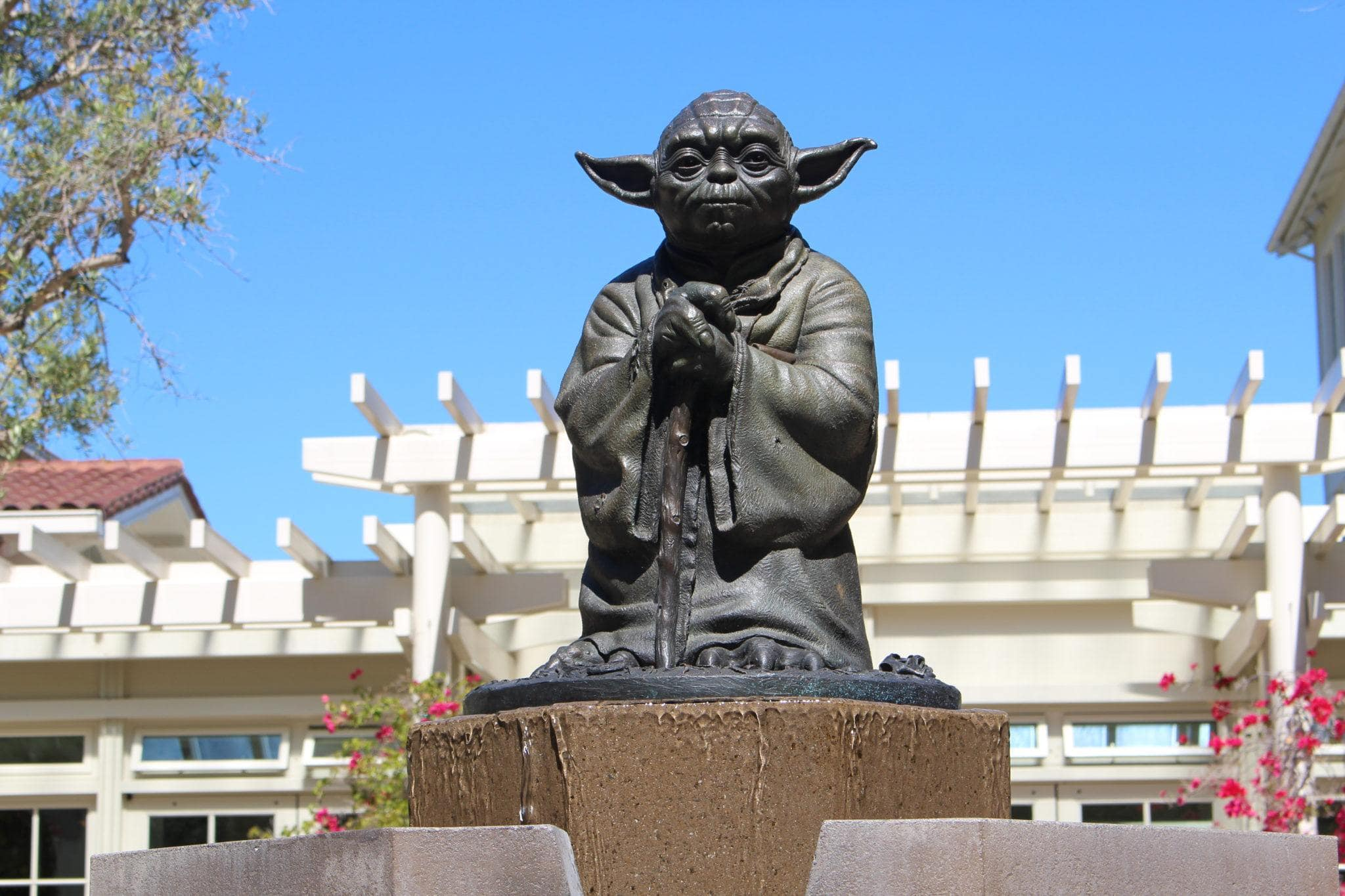 Yoda Fountain at Letterman Digital Arts Center ~ San Francisco for Star Wars Fans