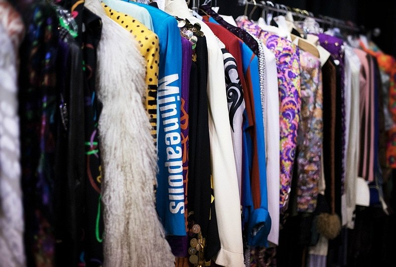 Some of Prince's outfits are on display at Paisley Park ~ What It's Like to Tour Paisley Park