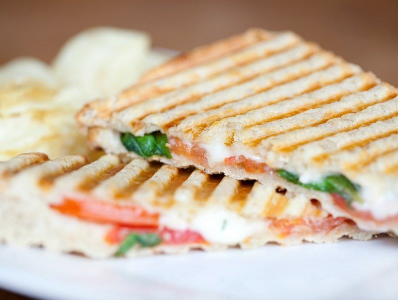 A grilled caprese panini is the Italian equivalent of a grilled cheese sandwich ~ Best Grilled Cheese Sandwiches Around the World