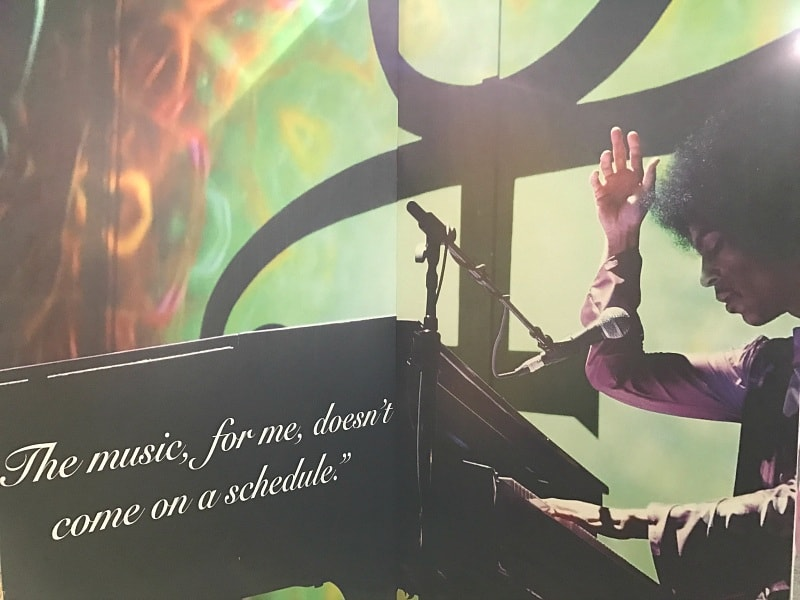 """The music, for me, doesn't come on a schedule."" - Prince ~ What It's Like to Tour Paisley Park"