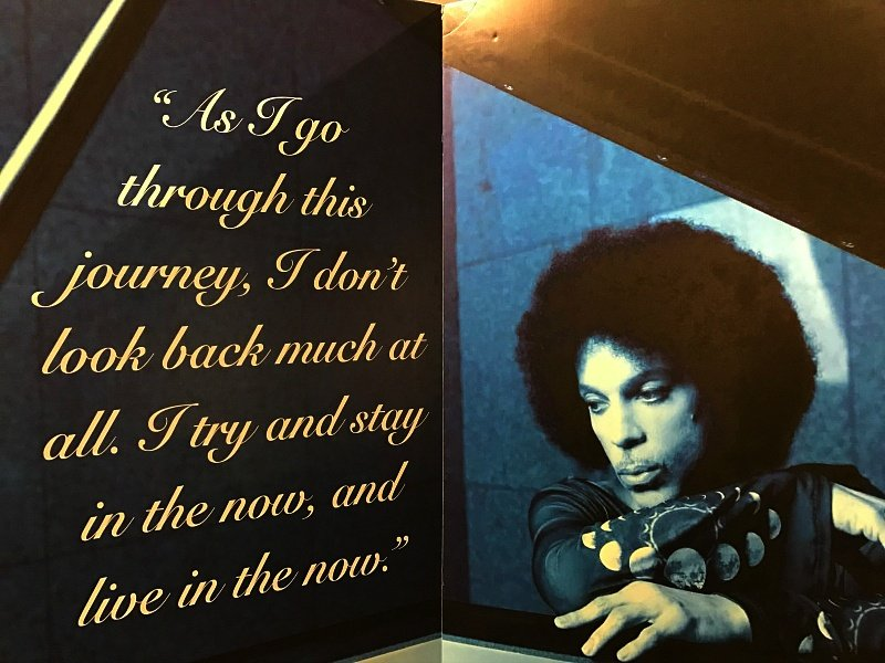 Prince did not own a cell phone and focused on living life in the present moment