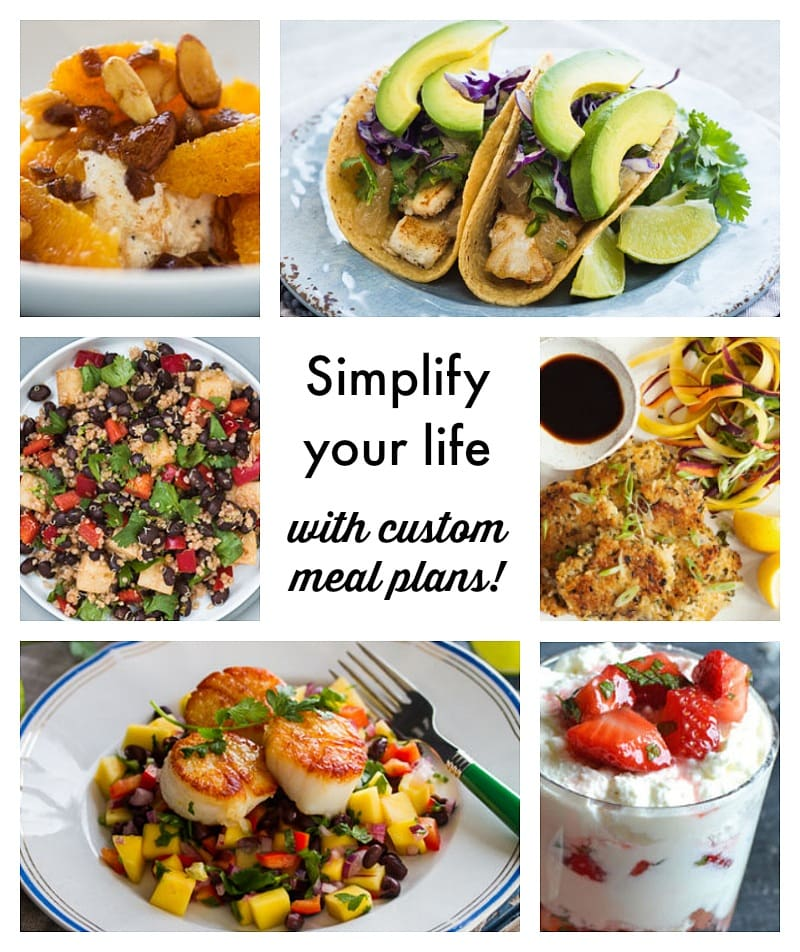 Simplify your life with custom meal plans! Discover how to make meal planning, grocery shopping and meal preparation easier and more fun with PlateJoy ~ by TravelMamas.com
