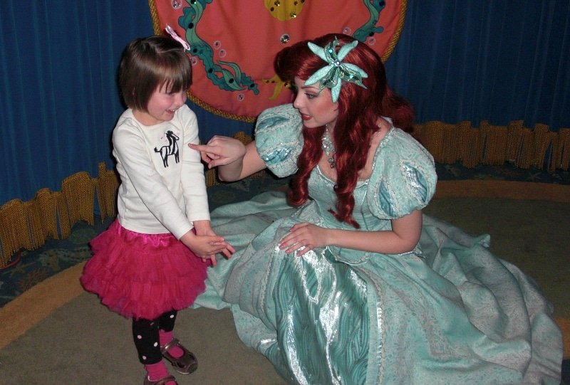 Ariel's Princess Celebration at Ariel's Grotto in Disney California Adventure Park