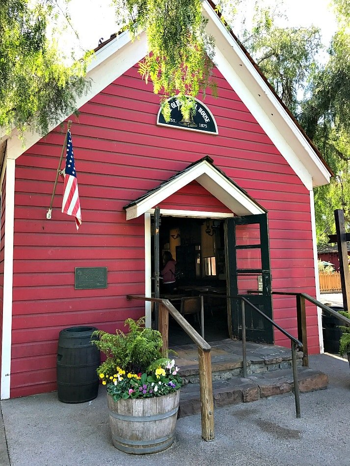 This one-room schoolhouse was built in Kansas in 1879 and brought to Knott's Berry Farm ~ Disneyland vs Knott's Berry Farm