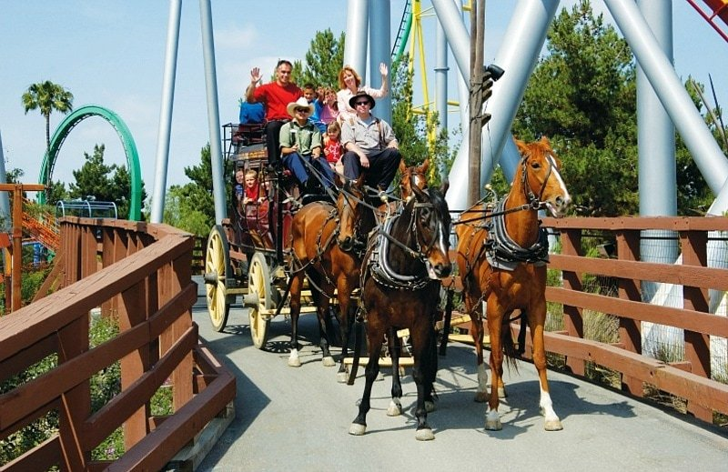 Get a feel for the Wild West with a Stagecoach ride at Knott's Berry Farm ~ Disneyland vs Knott's Berry Farm