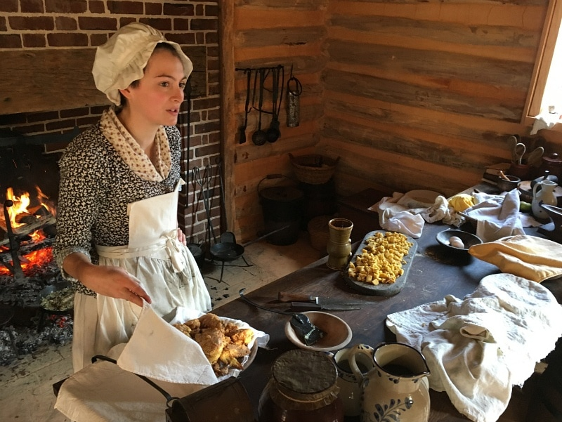 American Revolution Museum at Yorktown farm cooking ~ History is fun