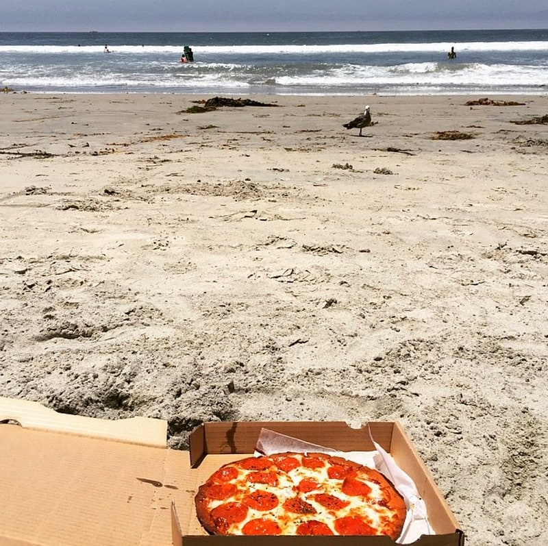 Pizza Port pie at the beach ~ Best San Diego Attractions, Restaurants and Hotels for Families