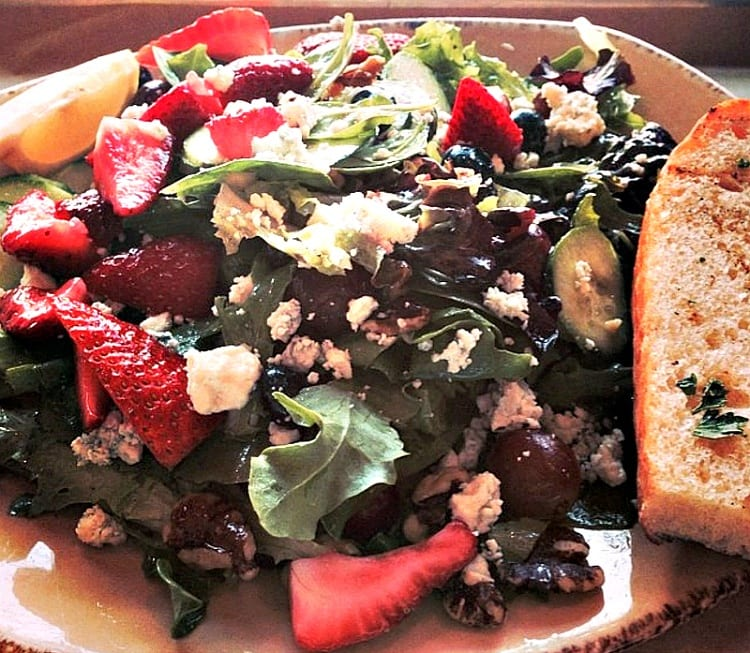 Just one of the many delicious and beautiful salads at Urban Plates in Del Mar ~ San Diego Attractions, Restaurants and Hotels for Families