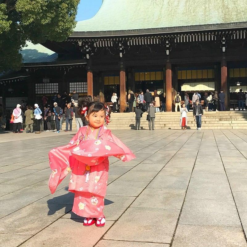 meiji shrine child kimono
