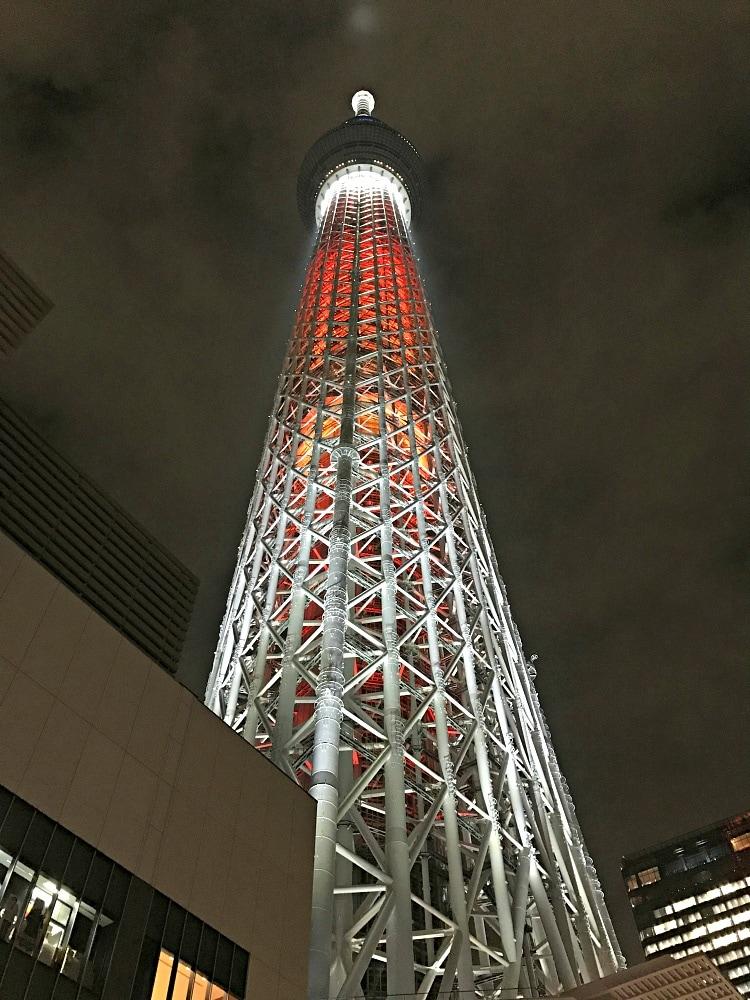Tokyo Tower at night ~ Tokyo with Kids