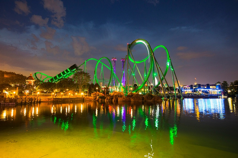 The Incredible Hulk Coaster at Universal Orlando Resort