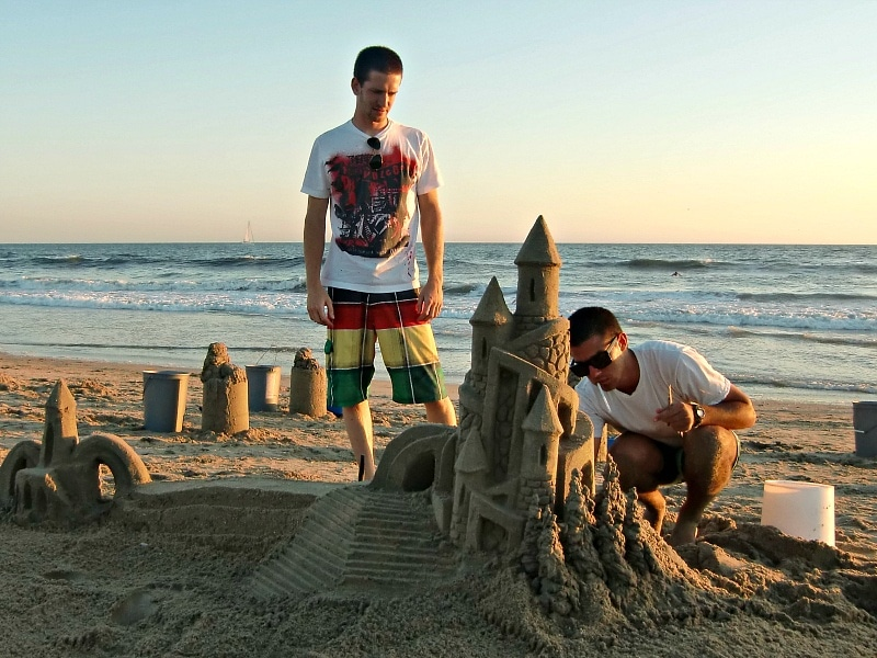 Huntington Beach sandcastle ~ Huntington Beach with Kids