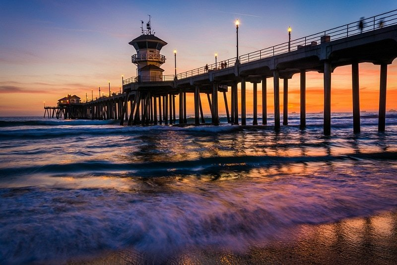 Huntington Beach is especially beautiful at sunset ~ Huntington Beach with Kids