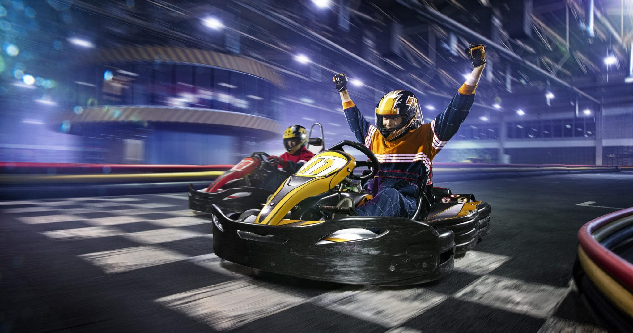 Drive SMAAASH Sky Karts around a two-level track ~ 30 Fun Things to Do at Mall of America Besides Shop