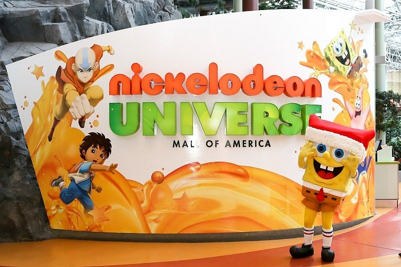 Meet Spongebob and other Nickelodeon friends in Nickelodeon Universe ~ 30 Fun Things to Do at Mall of America Besides Shop