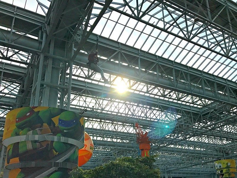 Zip-lining above Nickelodeon Universe at Mall of America ~ 30 Things to Do at Mall of America Besides Shop