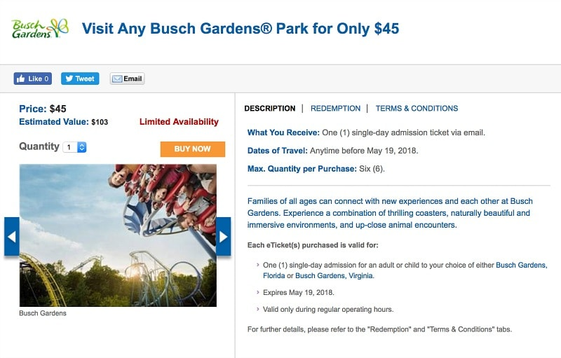 This deal from Busch Gardens will thrill theme park lovers ~ How to Save BIG on USA Summer Travel