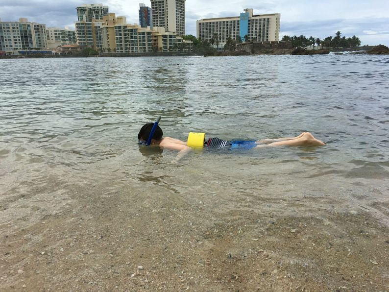 Snorkeling at Plaza Condado Hilton ~ San Juan with Kids