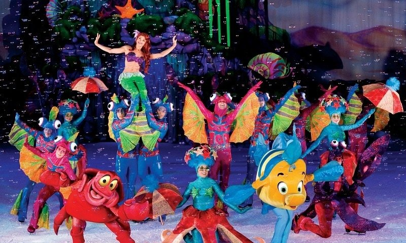 Ariel and her undersea friend in Disney On Ice Dream Big ~ 8 Tips for Disney On Ice with Kids