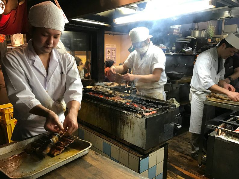 Unagi is slathered in teriyaki sauce and grilled over hot coals in Narita ~ 5 Incredible Things to Do in Narita, Japan