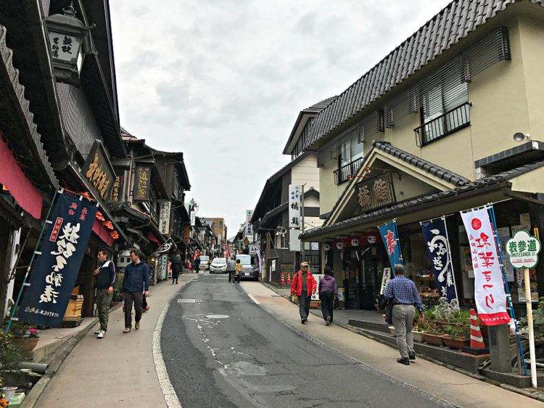 Narita's Omotesando street is lined with traditional Japanese shops and restaurants ~ 5 Incredible Things to Do in Narita, Japan