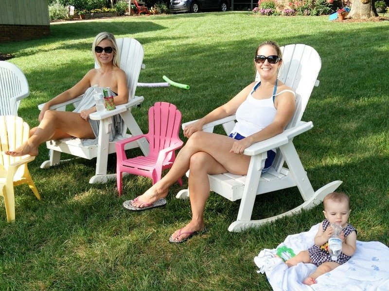 The result of a good backyard barbecue - happy guests and hosts (Photo credit: Bryan Richards)