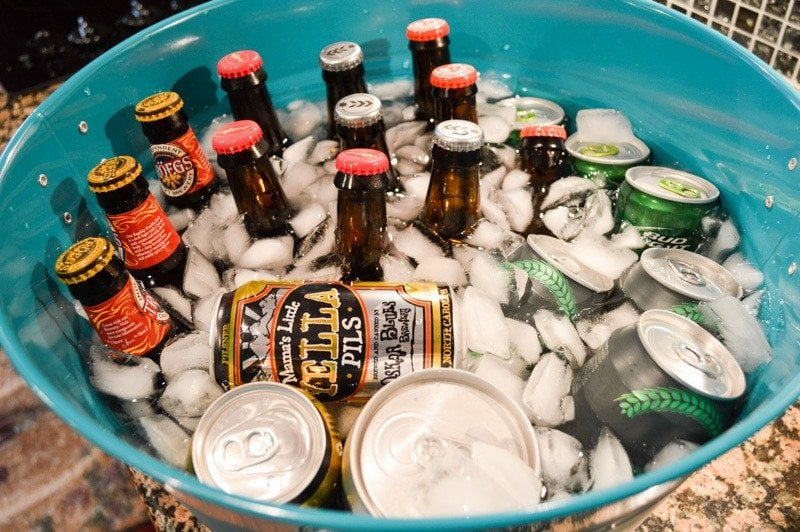 Beverage tubs are much more decorative than dirty, old coolers (Photo credit: Bryan Richards)