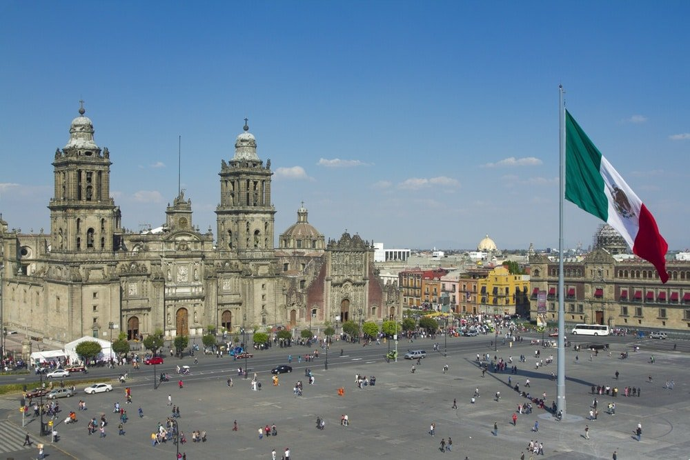 The zocalo in Mexico City ~ Mexico City for First Timers