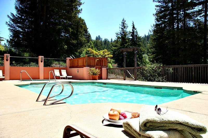 Nothing beats a day by the pool during a romantic getaway at Applewood Inn in Sonoma Valley