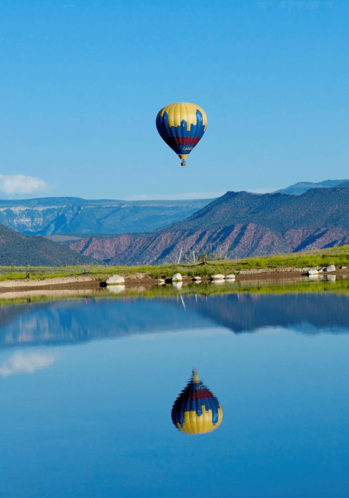 Camelot hot air balloon ride in Vail in summer