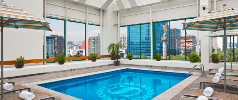 Indoor pool at Sheraton Maria Isabel Hotel & Towers ~ Mexico City for First Timers
