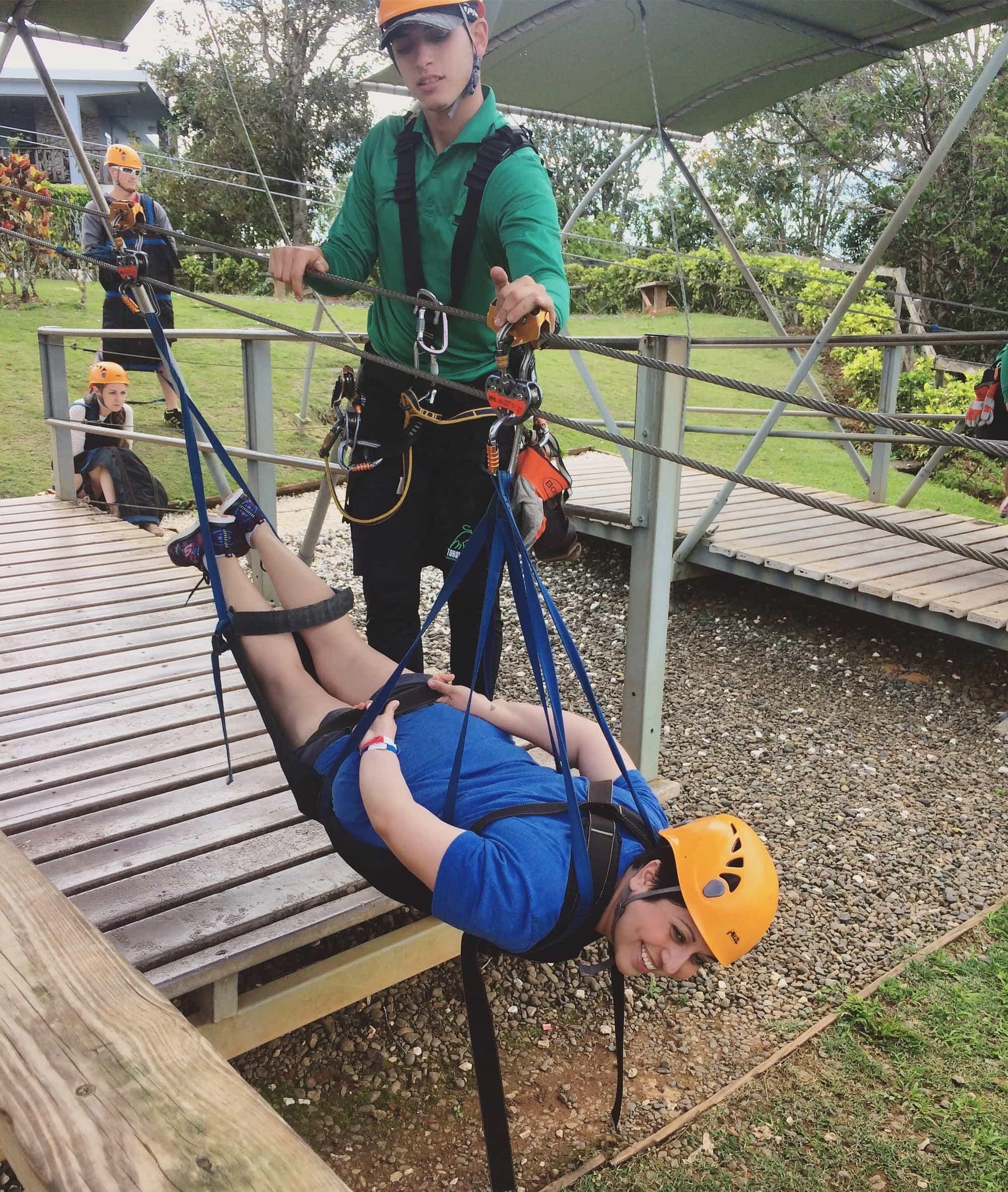 The Beast Zipline at Toro Verde Adventure Park in Puerto Rico