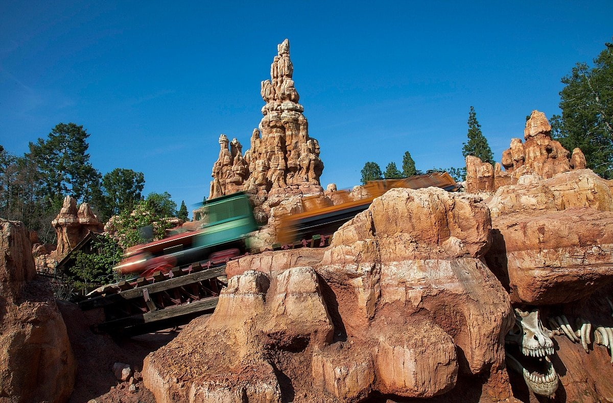 Big Thunder Mountain Railroad takes upgrades the typical theme park choo-choo ride ~ Scariest Rides at Disneyland