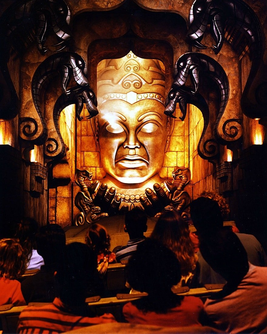 Indiana Jones Adventure: Temple of the Forbidden Eye features scary theming and a raucous ride ~ 17 Scariest Rides at Disneyland