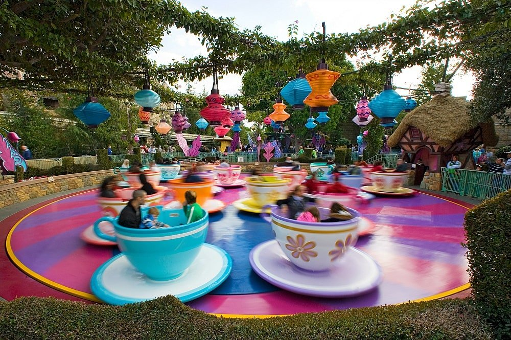 The Mad Tea Party isn't necessarily everyone's cup of tea ~ 17 Scariest Rides at Disneyland