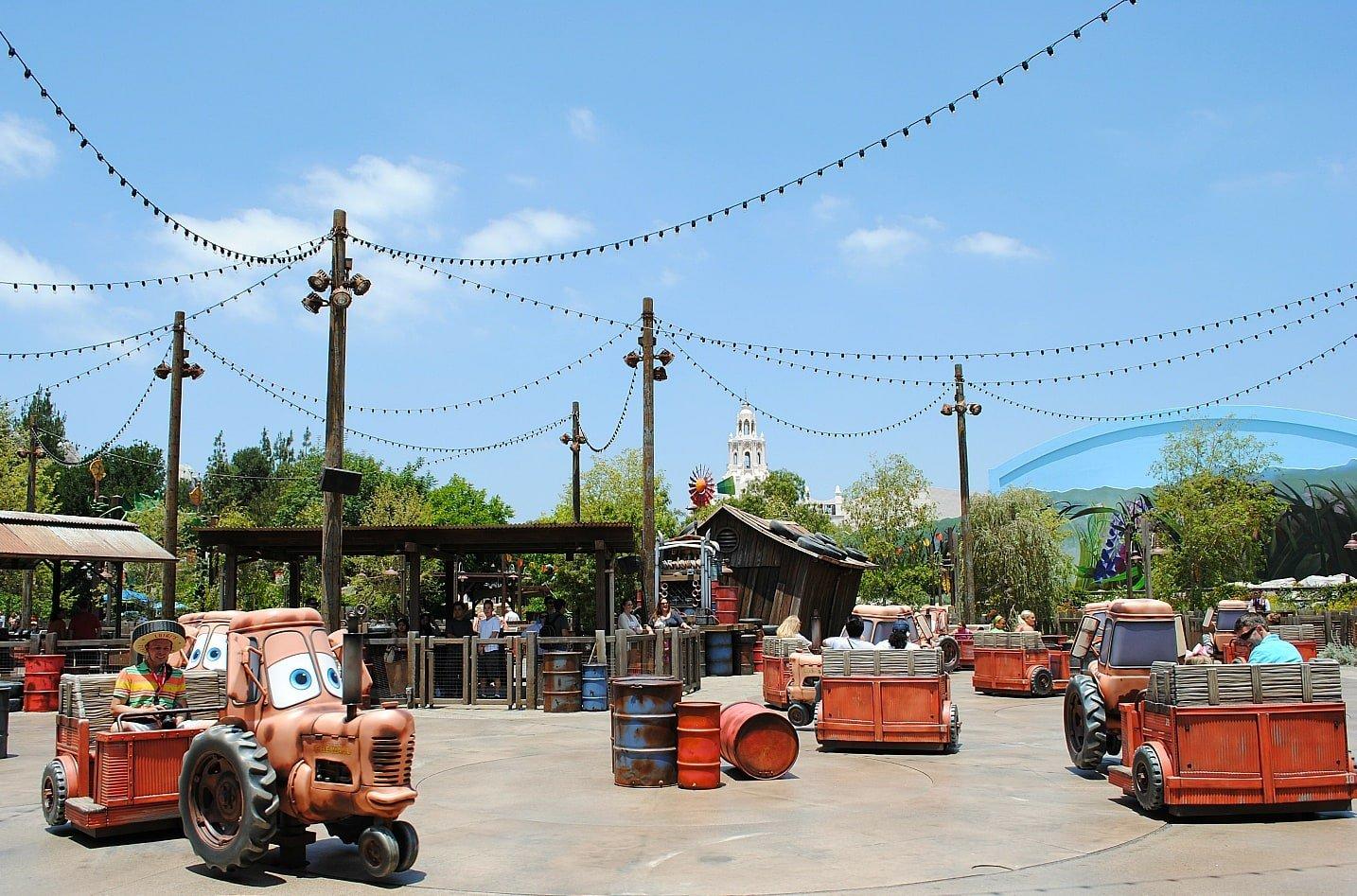 Mater's Junkyard Jamboree is like a Tilt-A-Whirl but way better ~ Scariest Rides at Disneyland