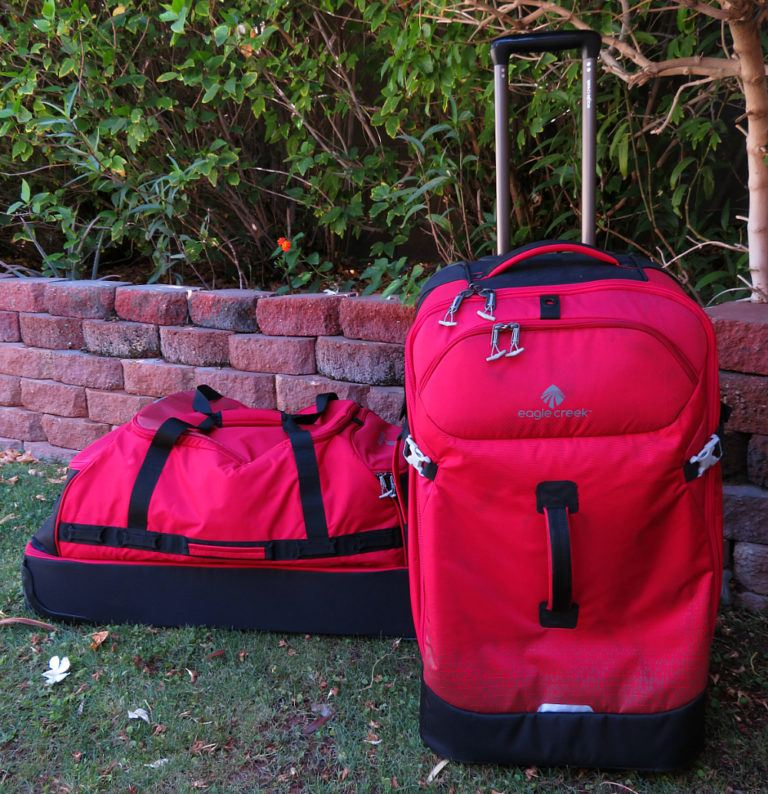 Eagle Creek Expanse Drop Bottom Duffel on left and Flat Bed on right ~ Durable Luggage for Family Travel