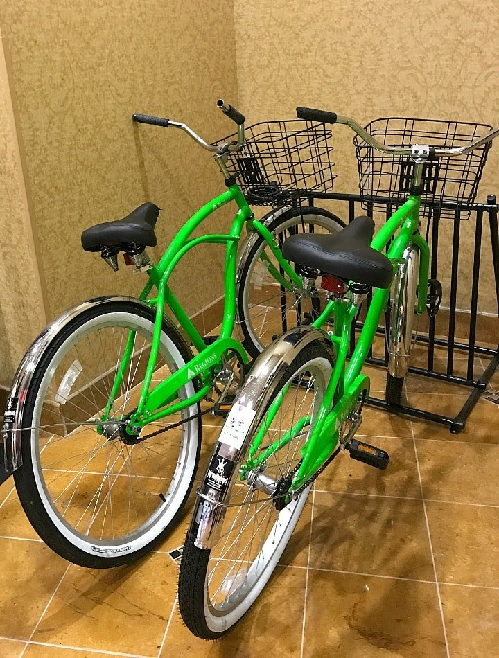 You can rent bicycles from Embassy Suites Huntsville