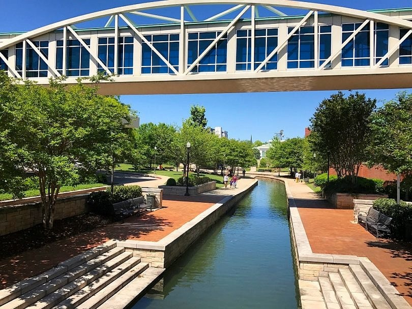 View of Big Spring Park just steps from Embassy Suites Huntsville