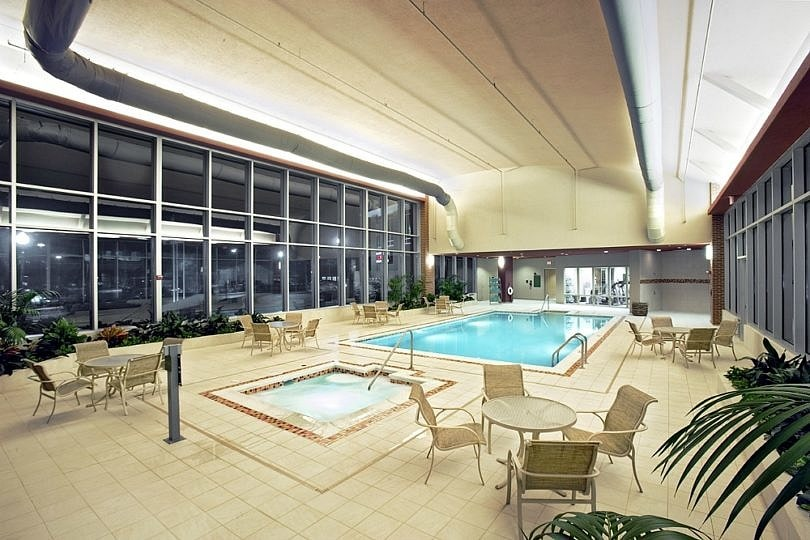 Indoor pool and hot tub at Embassy Suites Huntsville