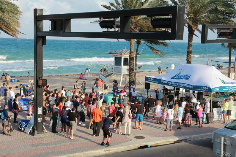 Friday Night Sound Waves takes place right on Fort Lauderdale Beach