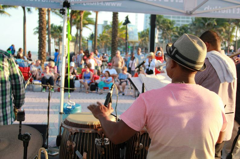 Enjoy a variety of music genres at Friday Night Sound Waves in Fort Lauderdale